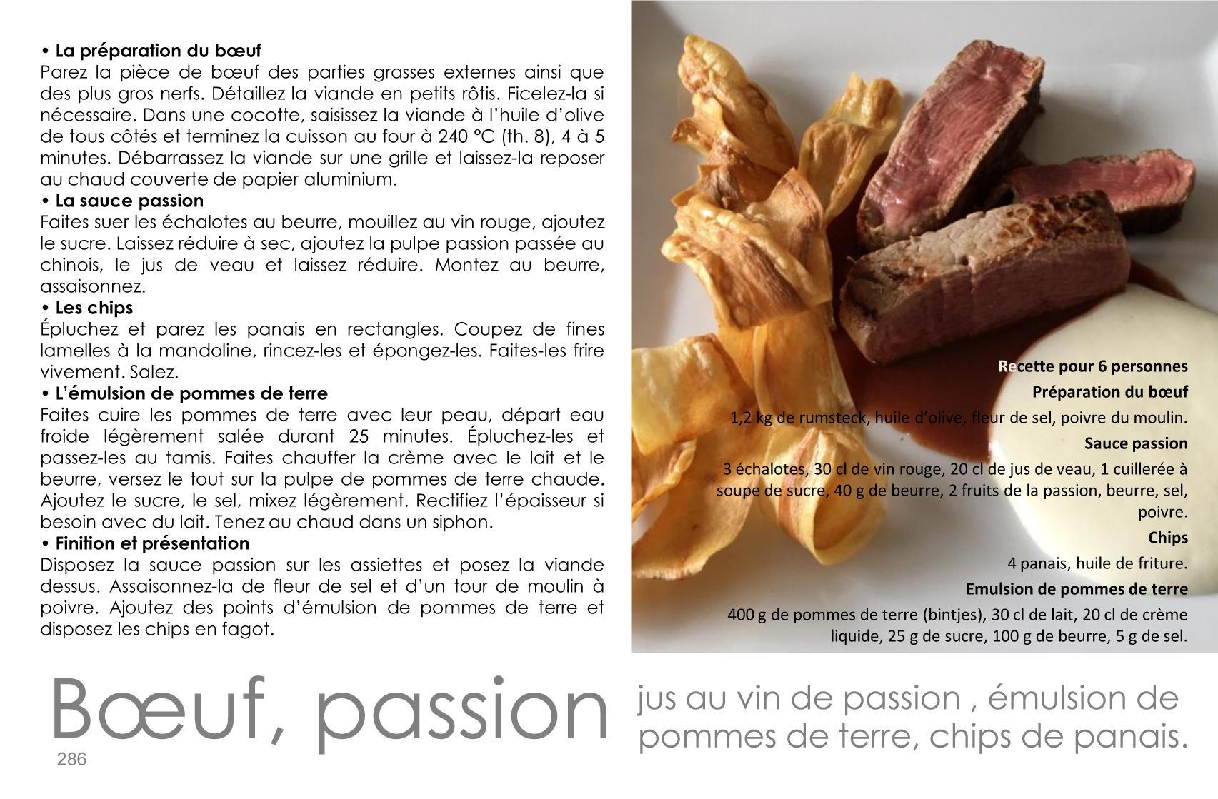 Boeuf, sauce passion